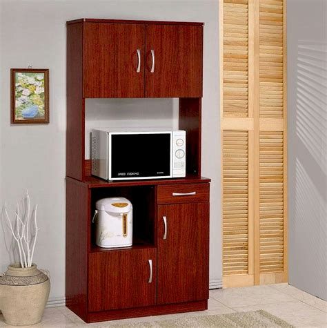Furniture Awesome Microwave Carts   Kitchen