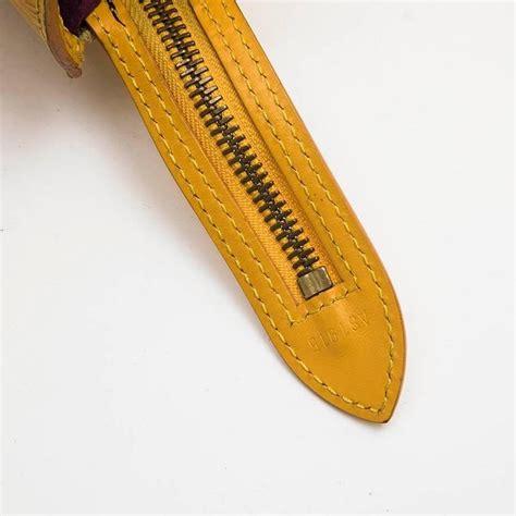 louis vuitton saint jacques bag  yellow epi leather  sale  stdibs