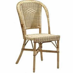 Chaise En Rotin : chaise rotin naturel albertine ~ Preciouscoupons.com Idées de Décoration