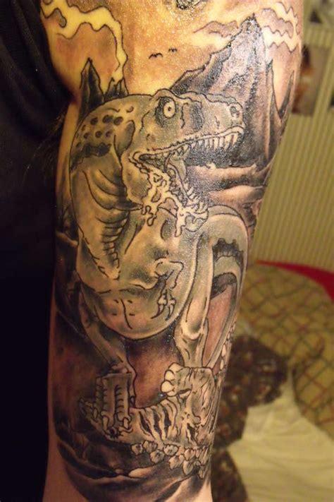 dinosaur tattoo   sleeve