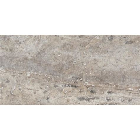 shop anatolia tile 44 pack silver ash travertine floor and