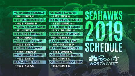 seattle seahawks regular season schedule