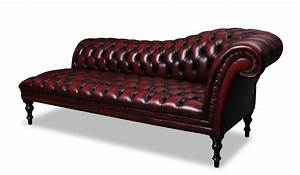 Fancy Leathered Red Chaise Lounge Design With Upholstered
