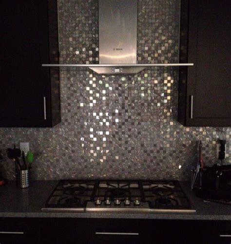 pictures of kitchen tiles mirror backslash effect and black cabinets modern kitchen 4219