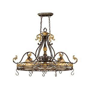 island pot rack light fixture new 2 light pot rack island pendant lighting bronze ebay
