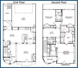 Two Story Floor Plan The Parkway Luxury Condominiums