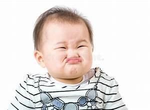 Asian Baby Girl Make Upset Face Stock Photo - Image of ...