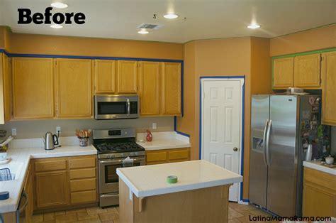 refinish  kitchen cabinets latina mama rama