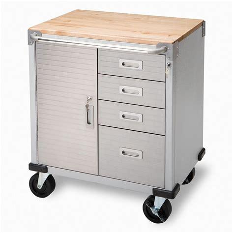 Bench Cabinet Storage by Seville 4 Drawer Rolling Garage Steel Metal Storage