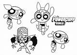 Coloring Powerpuff Pages Cartoon Printable Cool2bkids sketch template