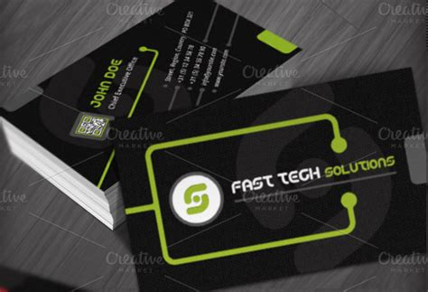 technology business cards templates business card