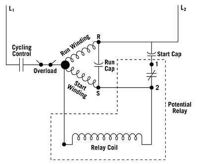 Freezer Start Relay Switch Wiring Diagram by Trying To Get The Run Capacitors Right For My Rotary Phase
