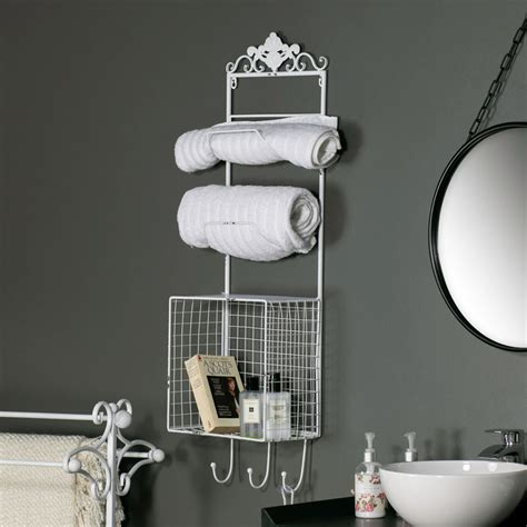 White Metal Storage Shelves by White Metal Bathroom Shelves Storage Unit Melody Maison 174