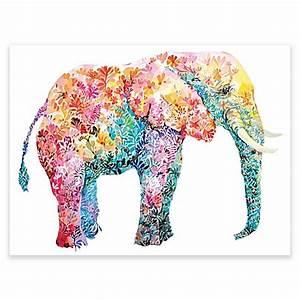 Elephant gum wall art bed bath beyond for Elephant wall art