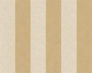Wallpaper Versace striped cream gold 96217