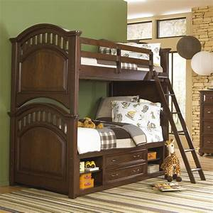Expedition, Twin, Over, Twin, Bunk, Bed, -, Cherry