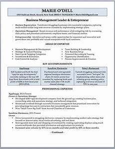 business owner resume sample writing guide rwd With company resume