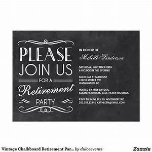 vintage chalkboard retirement party card retirement With retirement luncheon invitation template