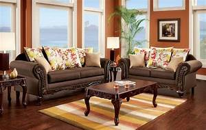 Branford dark brown living room set from furniture of for Living room furniture sets made in usa