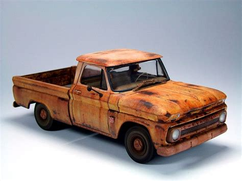 Chevy Trucks Models by Weathered 64 Chevy C10 Model Chevy
