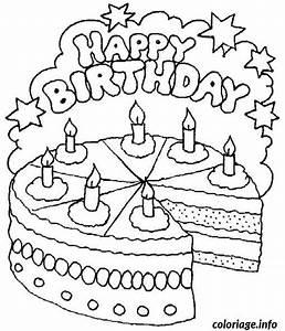 Dessin Gateau D Anniversaire : coloriage bon anniversaire dessin ~ Louise-bijoux.com Idées de Décoration
