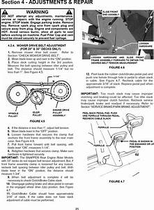 Snapper 281023bve User Manual Rear Engine Riding Mower