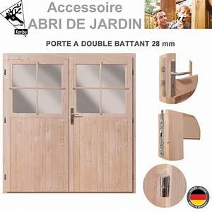 Fabriquer Porte Abri De Jardin : porte double 28 mm pour abri de jardin bois ~ Nature-et-papiers.com Idées de Décoration