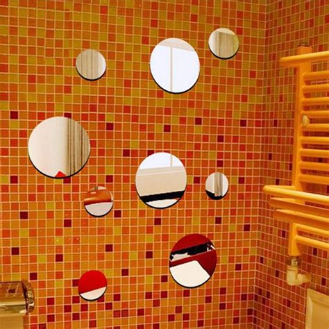 As the picture for wall decor size :as picture detail quantity:for your choose note: Funlife DIY Circle Mirror Wall Sticker,Ps Plastic 9pcs Mix Round Dots Shape Three Dimensional ...