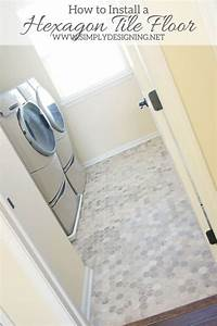 laundry room flooring Hexagon Laundry Room Tile #thetileshop @thetileshop