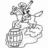 Barrel Racing Coloring Pages West Western Cowboy Colouring Printable Rodeo Wallpapers Sports Colour Freeprintablecoloringpages sketch template