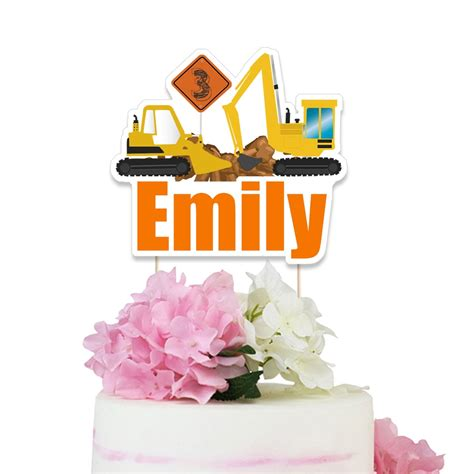 Construction Cake Decorations by Construction Cake Topper Construction Truck Centerpiece