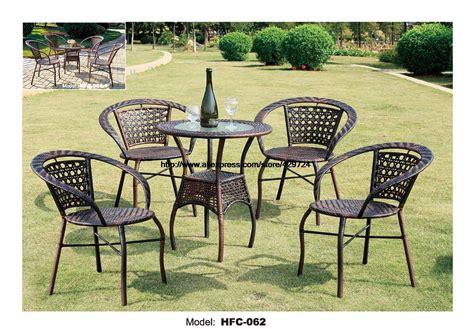 low price simple design gardern set 60 65cm rattan table 4