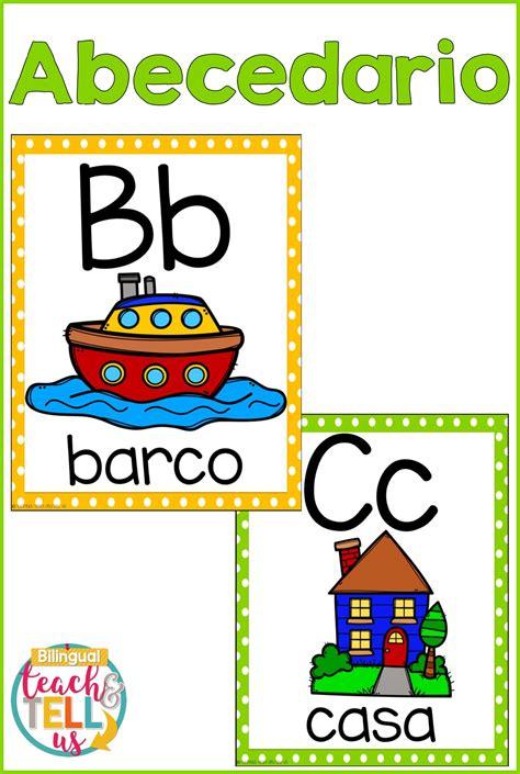 alphabet posters spanish alfabeto  images alphabet