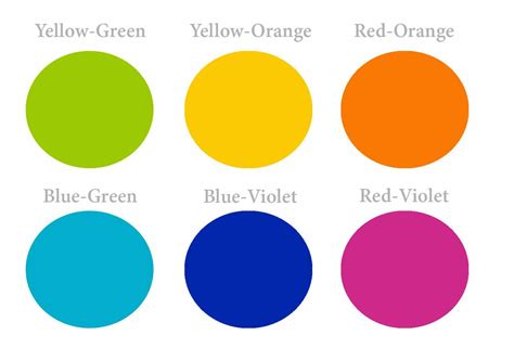 what are the intermediate colors these are the intermediate colors also known as the