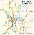 British Columbia Maps, City of Prince George, BC Map ...