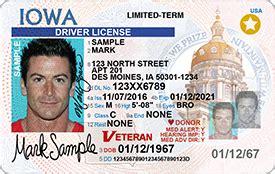 veteran designation iowa motor vehicle division