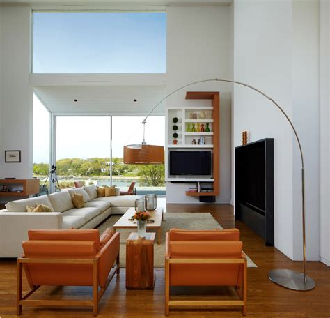 floor l next to tv impressive arc floor l in living room transitional with chocolate brown couch next to