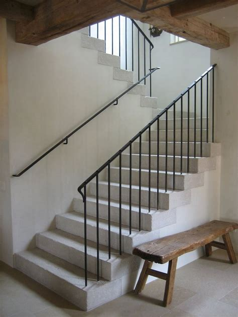 Metal Banisters And Railings by 25 Best Ideas About Metal Stair Railing On