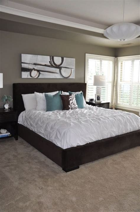 teal and beige bedroom mocha accent by behr paint color