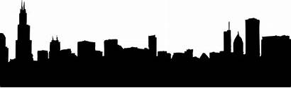 Skyline Chicago Clipart Cityscape Clip Silhouette Drawing