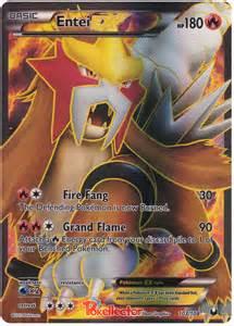 Mega Pokemon Card Entei Ex
