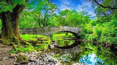 Summer Landscape Desktop Water River Stones Calm