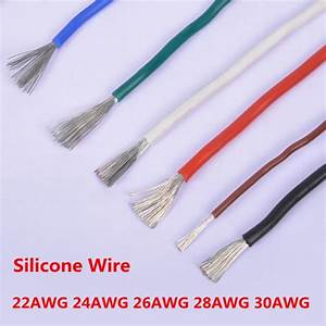 5 Meter 22awg 24awg 26awg 28awg 30awg Silicone Wire Ultra