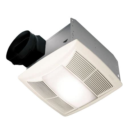 exhaust fan with light nutone qt series 130 cfm ceiling exhaust fan with
