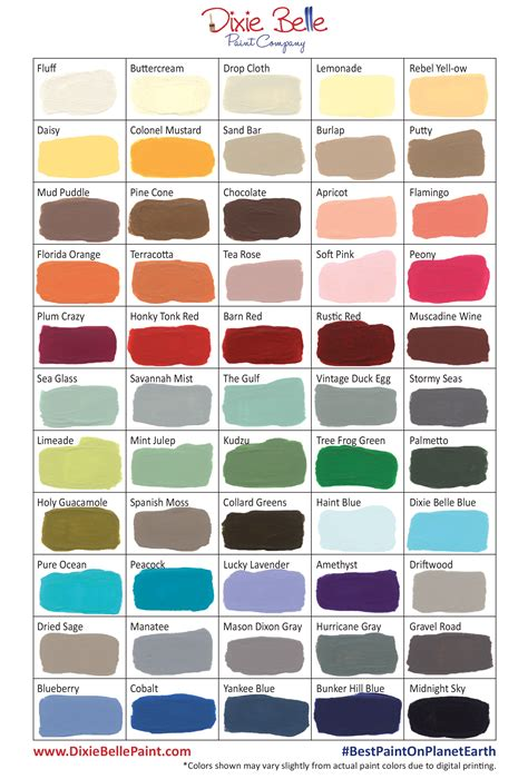dixie belle paint company now has 55 awesome chalk mineral