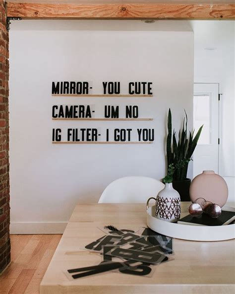 Using a beloved quote or phrase, incorporate on a colored wooden surface that she can hang above her bed. LETTERS & LEDGES   Nadine Stay   Letter wall decor, Word wall decor, Letter wall