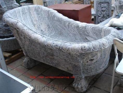 China Juparana Granite Carved Solid Bath Tub