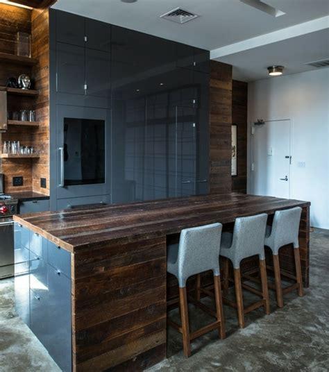 plan de travail cuisine gris anthracite cuisine industrielle l 39 élégance brute en 82 photos