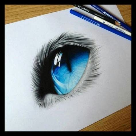 eye drawings blue cat eye pencil drawing soft touch