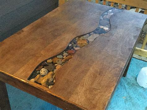 finally built  dining table   resin river ive